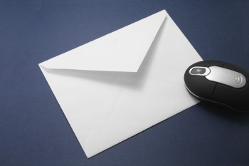 envelope and wireless mouse