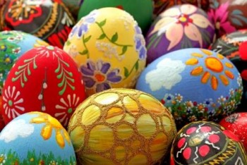 Colourful Painted Easter Eggs