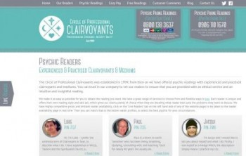 The Circle of Professional Clairvoyants Website Screen Shot